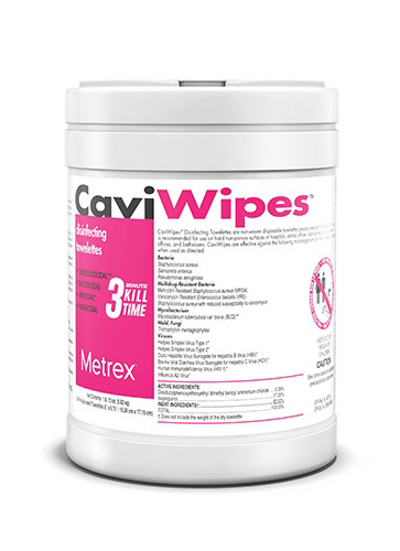 CaviWipes is a cleaner and disinfectant in one.